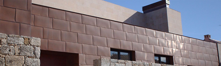 natural copper curtain wall