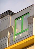 metallic curtain walls for façades