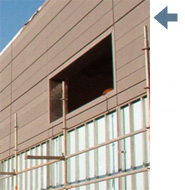 thermally insulated façades
